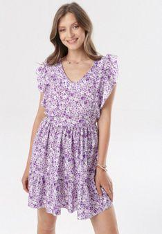 Fioletowa Sukienka Arrielia