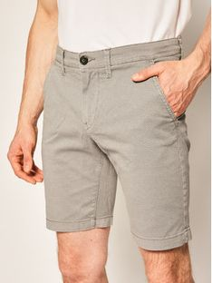 Pepe Jeans Szorty materiałowe Charly Minimal PM800773 Szary Slim Fit