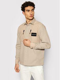 Calvin Klein Jeans Kurtka przejściowa Material Mix J30J317124 Beżowy Regular Fit