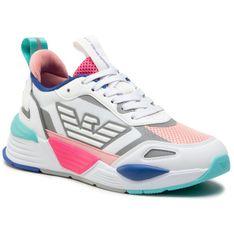 Sneakersy EA7 EMPORIO ARMANI - X8X070 XK165 N340 Wht/Cur/Q.Pin/F.Pink