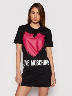 LOVE MOSCHINO Sukienka codzienna W5A0221M 3876 Czarny Regular Fit