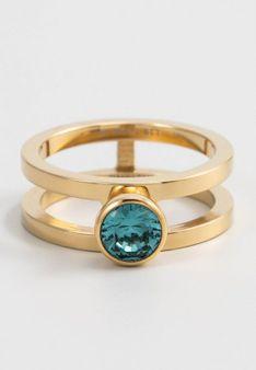 Melano Jewelry - Pierścionek - Cyrkonia - złoty