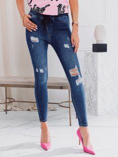 Spodnie damskie jeansowe 026PLR - granatowe