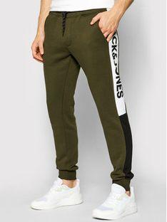 Jack&Jones Spodnie dresowe Will 12197199 Zielony Regular Fit