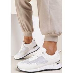 Buty sportowe damskie Renee płaskie białe