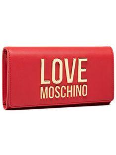 LOVE MOSCHINO Duży Portfel Damski JC5614PP1CLJ050A Czerwony