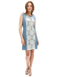 Sukienka jeansowa z koronkową wstawką Desigual AGATHO