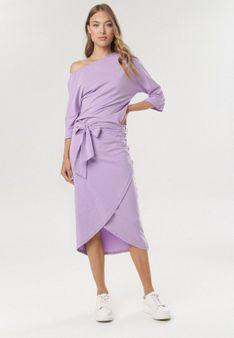 Jasnofioletowa Sukienka Acalemenis