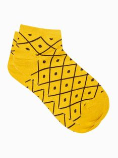 Skarpety damskie 002ULR - żółte