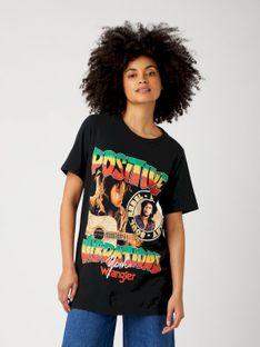 "Wrangler ""Vibrations Tee"" Black Bob Marley"