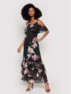 Guess Sukienka letnia Agathe W1GK1F WDW52 Czarny Regular Fit