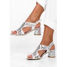 Sandały damskie Casu skórzane eleganckie z klamrą