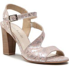 Różowe sandały damskie Sergio Bardi z zamszu z klamrą