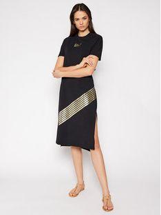 EA7 Emporio Armani Sukienka codzienna 3KTA54 TJ2HZ 1200 Czarny Regular Fit