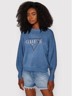 Guess Sweter Beatrice W1YR0Q Z26I0 Niebieski Loose Fit