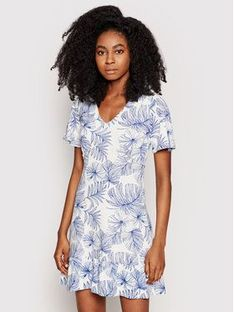 Desigual Sukienka letnia Nadia 21SWVKBB Biały Regular Fit