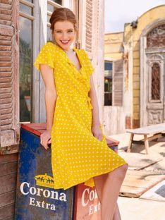 Żółta sukienka w groszki Smashed Lemon 20073