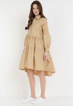 Beżowa Sukienka Sylcyne