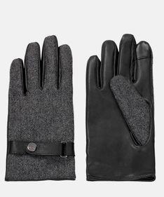 Szare rękawiczki męskie
