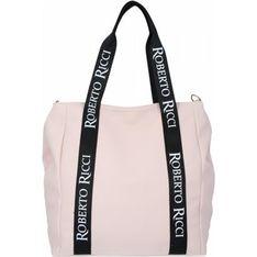 Shopper bag Roberto Ricci na ramię duża ze skóry ekologicznej