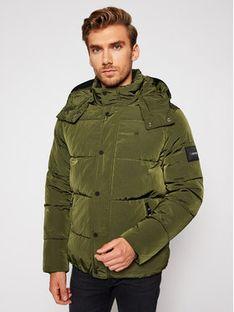 Calvin Klein Kurtka puchowa Crinkle Mid Length K10K105970 Zielony Regular Fit