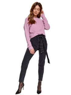 Pudełkowy sweter ze wzorem