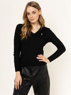 Polo Ralph Lauren Sweter Kimberly 211580008039 Czarny Regular Fit