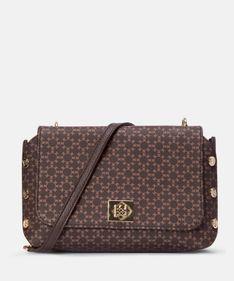 Brązowa torebka damska z wymienną klapką