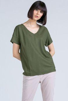 Basicowy t-shirt w serek