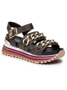 Liu Jo Sandały Maxi Wonder Sandal 9 BA1077 EX057 Brązowy