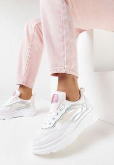 Biało-Różowe Sneakersy Zinvalur