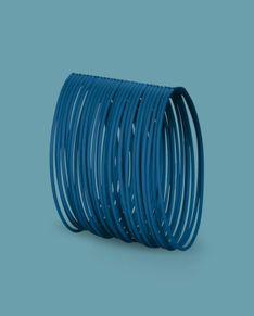 Bransoletka Bernardini - niebieska bez metalowego zapięcia