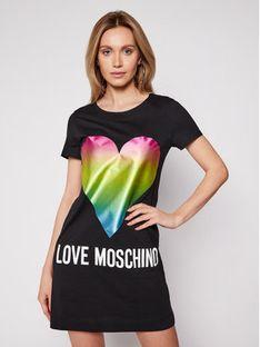 LOVE MOSCHINO Sukienka codzienna W592914M 3876 Czarny Regular Fit
