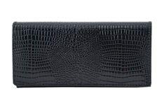 Barberini's portfele ze skóry lakierowanej Czarny