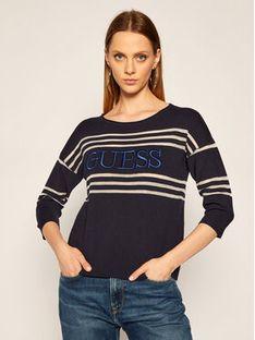 Guess Sweter Alessia W0YR87 Z2BB0 Granatowy Regular Fit