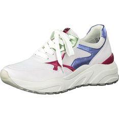 Buty sportowe damskie Marco Tozzi sneakersy w stylu młodzieżowym wiązane płaskie na wiosnę gładkie