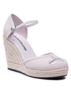 Calvin Klein Jeans Espadryle Wedge Sandal Close Toe Co YW0YW00150 Beżowy