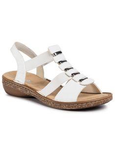 Rieker Sandały 62850-80 Biały