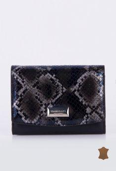 Elegancki portfel z wzorzystą klapą