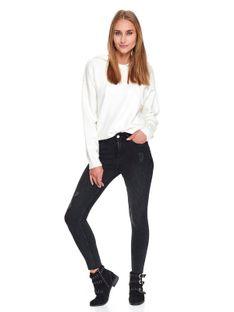 Jeansowe damskie spodnie skinny