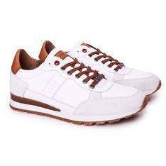 Męskie Sportowe Buty Sneakersy GOE HH1N4054 Białe