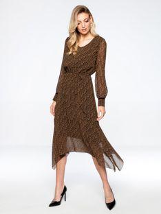 Zwiewna sukienka z asymetrycznym dołem L`AF VESLE