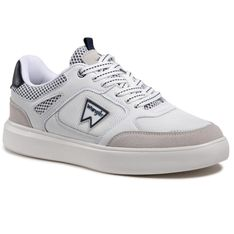 Sneakersy WRANGLER - Davis Basket WM11021A White/Navy