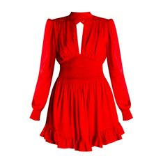 Flared dress with band collar