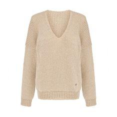 Miękki sweter w szpic Mia