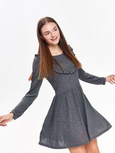 Sukienka damska z ozdobną falbaną