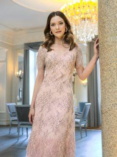 Koronkowa rozkloszowana sukienka Potis & Verso SOLE