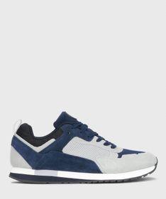 Granatowo-szare sneakersy męskie
