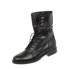 Buty skórzane ze sznurowaniem