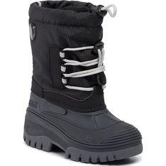 Buty zimowe dziecięce Cmp bez wzorów sznurowane